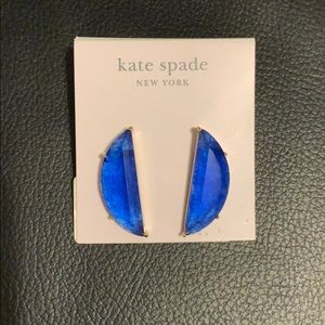 Kate Spade Gold-Tone Stone Drop Earrings